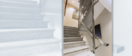 bankerham hotel staircase with Codina wire meshes