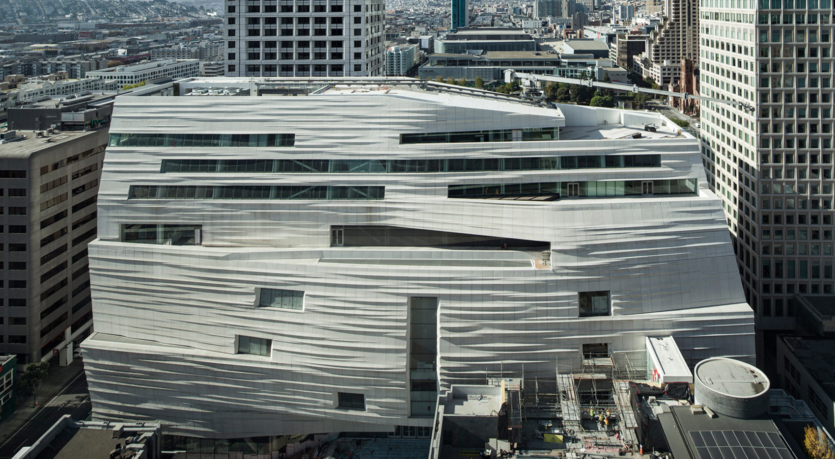 view of the skyline of SFMOMA