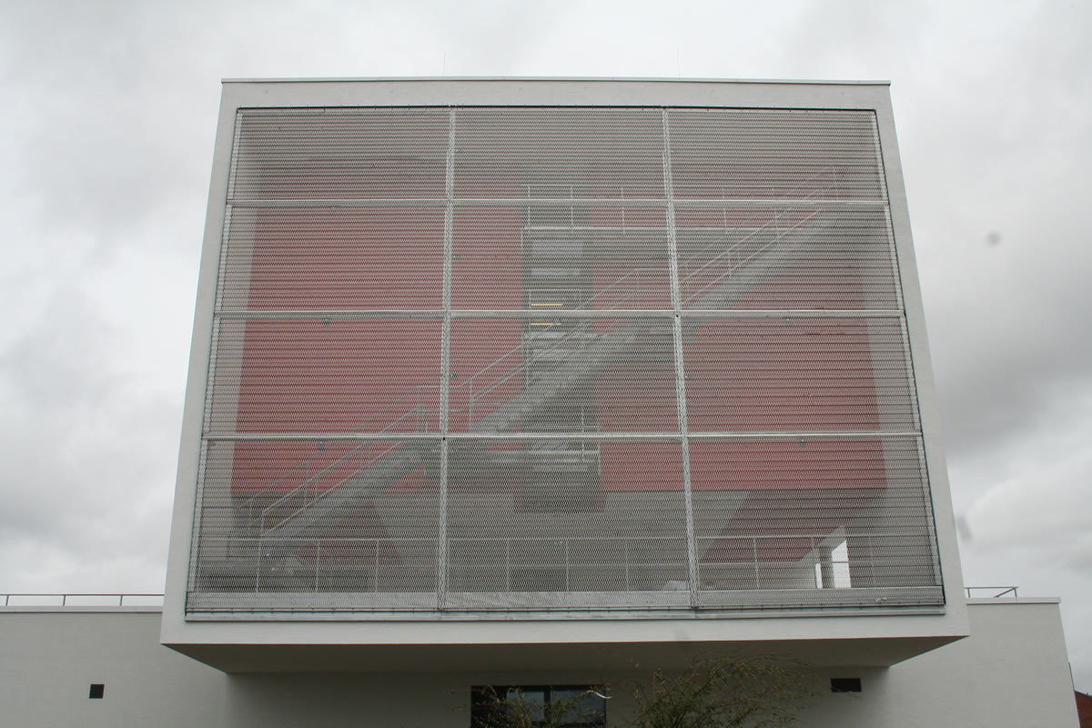 Bruchsal State firefighting school facade with Architectural Meshes by Codina
