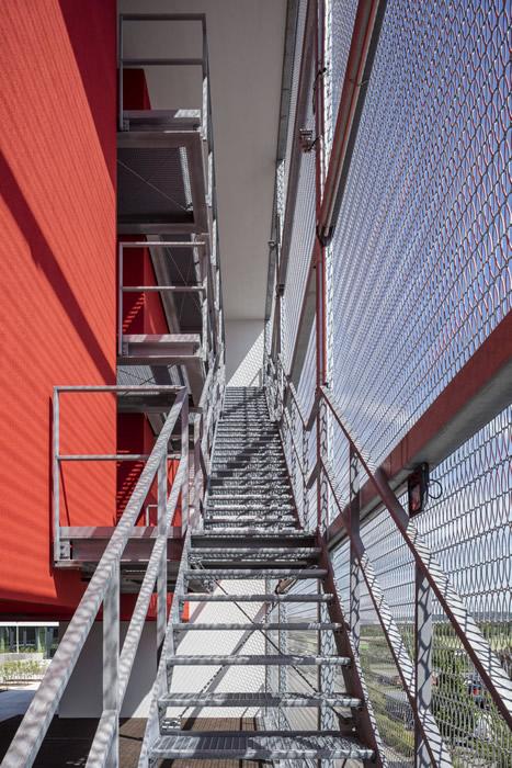 Eiffel 40100 architectural mesh model - State firefighting school, Bruchsal
