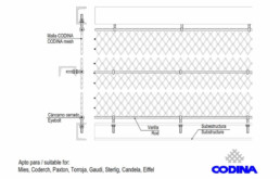 Codina Architectural TF-60 Metal Mesh
